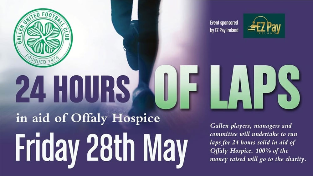 Offaly Hospice Gallen United Laps Fundraiser